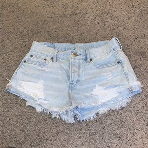 NEW American Eagle Light Wash Jean Shorts
